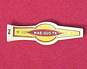 Mas-quo-ta Cigar Band Label Mint