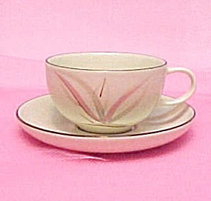 Winfield China Dragon Flower Cup Saucer Calif Pottery