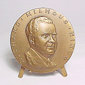 Richard Nixon Commemorative Large Inaugural Coin 1969 By Ralph Menconi