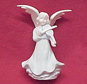 Blue & White 5 In Angel Figurine Playing A Violin Japan