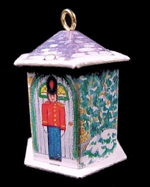 1992 Hallmark Miniature Keepsake Ornament Friendly Tin Soldier