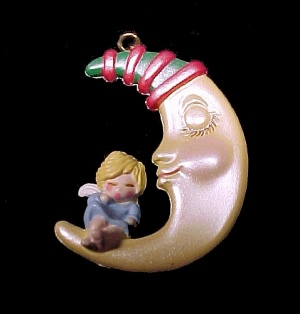 Hallmark 1989 Sweet Dreams Miniature Keepsake Christmas Tree Ornament