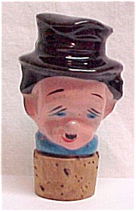 Ceramic Bottle Decanter Stopper Man Toby