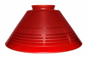 Vianne Red Glass Pendant Light Shade Cone 3 1/4 X 10 Wall Sconce