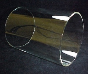 Cylinder 4 9/16 X 6 In Tube Glass Light Lamp Shade Candle Holder Chand