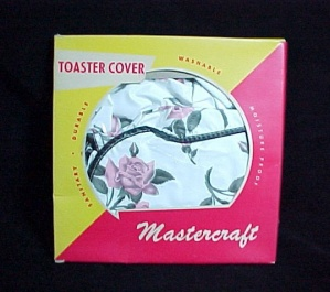 Toaster Cover Walgreens Mastercraft 1940s Vintage Vinyl White W/ Pink