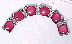Junk Jewelry Cherry Red Lucite Moonglow Plastic Disks