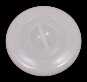 Jeannette Milk Glass White Canister Refrigerator Dish Lid Depression