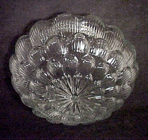 Clear Glass Pan Light Shade 6 7/8 In Floral Star Burst