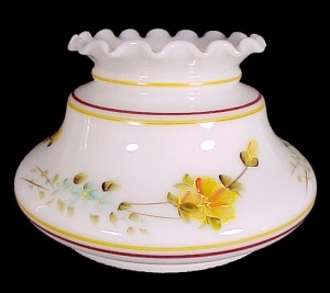 Milk Glass Yellow Floral 7 In Student Lamp Shade Desk Table Chandelier
