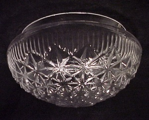 Clear Glass Art Deco 8 In Ceiling Light Shade Geometric Pan