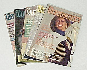 Lot Of 5 Workbasket Magazines Knit Crochet 1990