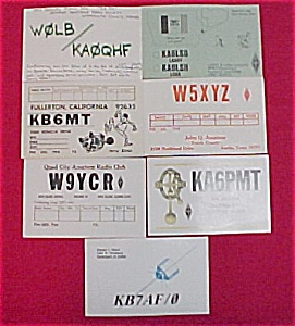 Lot Of 7 Arrl Amateur Cb Radio Club Qsl Postcards Qst Vintage
