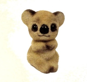 Josef Originals Flocked Koala Bear Figurine Figure Miniature