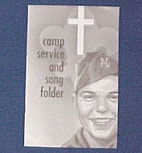 Boy Scout Camp Service & Song Folder Religious Hymns