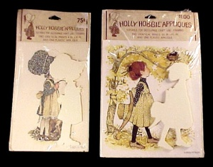 2 Holly Hobbie Decoupage Craft Applique Kit Set Vintage