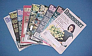 Lot Of 9 Workbasket Magazines Knit Crochet 1985 - 1988