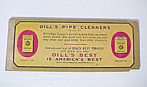 Dill's Pipe Cleaners Vintage Tobacciana Advertising Old