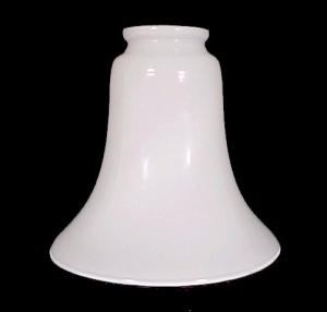 White Glass Light Shade Bell 2 1/4 Chandelier Ceiling Fan Wall Sconce