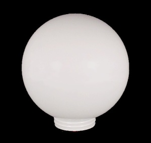 Threaded Light Shade 3 1/4 X 8 In Ball Globe White Glass Outdoor Lamp
