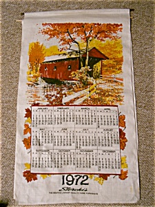 1972 Sterchis Linen Calendar Covered Bridge