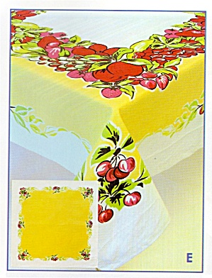 Vintage Pattern Fruit Cocktail Tablecloth