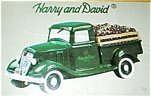 Harry And David Green Truck Cookie Jar