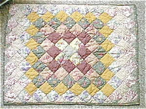 Pillow Sham Quilted Multi Squares