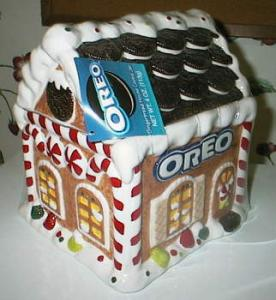 Oreo 2001 Gingerbread House Cookie Jar