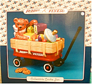 Radio Flyer Wagon With Bear Cookie Jar Nib