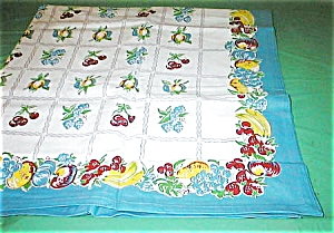 Vintage Remake Of A Fruit Tablecloth