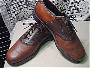 Vintage Mens Two Tone Brown Saddle Shoes