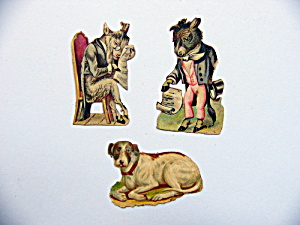 Victorian Die-cut Characters And Dog