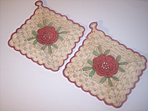 Hand Crocheted Decorative Pot Holders