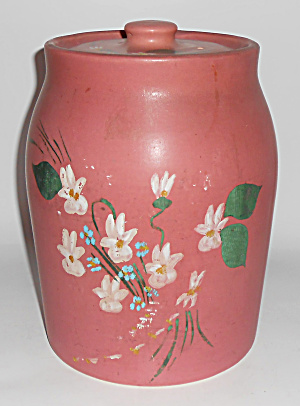 Coors Pottery Rare Dusty Rose Cookie Jar Mint
