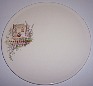 Coors Pottery Thermo Porcelain Open Window Cake Plate