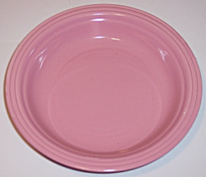 Coors Pottery Mello-tone Coral Pink Soup Plate