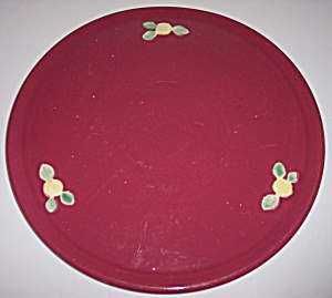 Coors Pottery Rosebud Red Cake Plate