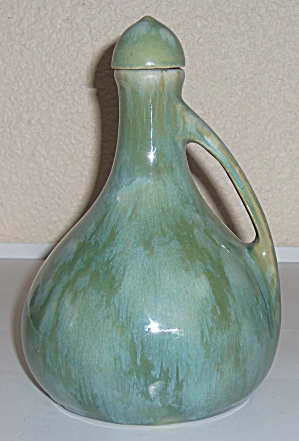 Brush Mccoy Pottery Green Onyx Small Musical Jug W/cap