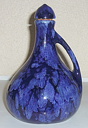Brush Mccoy Pottery Blue Onyx Small Musical Jug W/cap