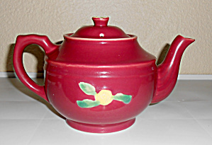 Coors Pottery Rosebud Red Large Teapot Very Rare