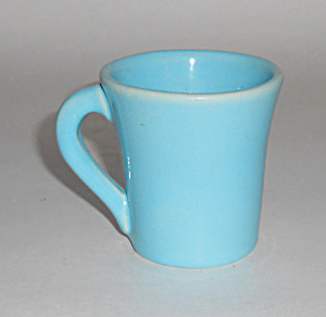Catalina Island Pottery Turquoise Demitasse Cup Mint
