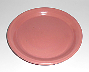 Bauer Pottery 5in Gloss Pink Spanish Flower Pot Saucer