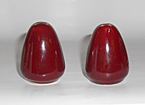 Bauer Pottery Brusche' Pr Salt Pepper Shakers