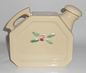 Coors Pottery Rosebud White Commemorative Water Server
