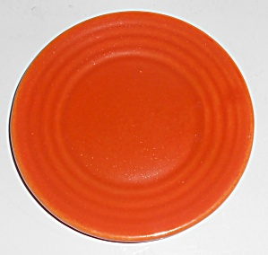 "Bauer Pottery Ring Ware Orange 5"" Plate Mint"
