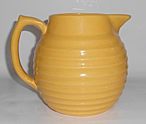 Bauer Pottery Ring Ware Yellow2 Qt Pitcher