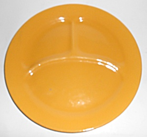 Bauer Pottery Plain Ware Yellow Grill Plate Mint