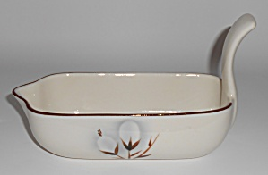 Winfield China Pottery Pussy Willow Gravy Bowl Mint
