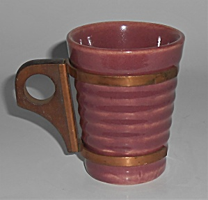 Bauer Pottery Ring Ware Burgundy 6 Oz Tumbler Mint